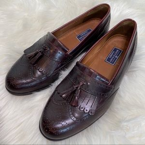 Bostonian dark brown ox blood Classic wingtip  10